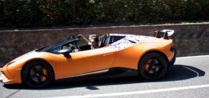 Lamborghini Huracan Spyder Performante с выдвижной крышей