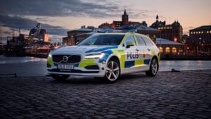 Volvo V90 в службе шведской полиции
