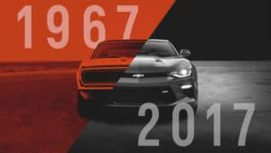 Chevrolet Camaro исполнилось 50 лет